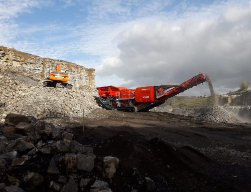NEW FINLAY J-1480 JAW CRUSHER ARRIVES AT RJ MITTENS ROCKFIELD QUARRY IN LISNASKEA!!